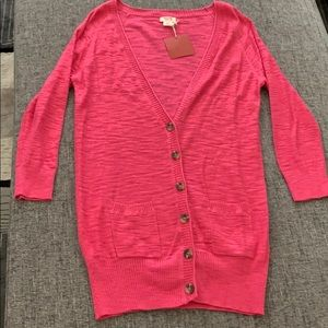 Pink v-neck cardigan from Target